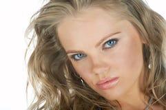 Fronte della donna di bellezza Fotografia Stock