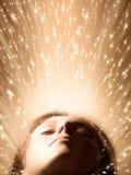 Fronte della donna di sonno Fotografie Stock Libere da Diritti