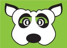 Fronte della maschera del partito di vettore del cane Fotografia Stock Libera da Diritti