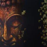 Fronte della meditazione della pittura dell'illustrazione di Buddha illustrazione di stock