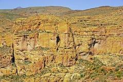 Fronte della montagna Fotografie Stock