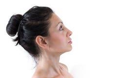 Fronte della pelle della donna Fotografia Stock Libera da Diritti