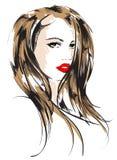 Fronte della ragazza di bellezza Fotografia Stock