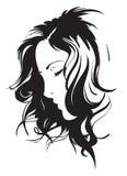 Fronte della ragazza di bellezza illustrazione vettoriale