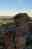 Fronte della scimmia, Smith Rock e fiume curvato Fotografie Stock