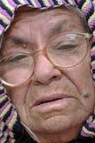 Fronte della signora anziana Fotografie Stock Libere da Diritti