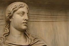 Fronte della statua di marmo Fotografie Stock