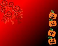Fronte della zucca con il tema arancio per Halloween Fotografie Stock