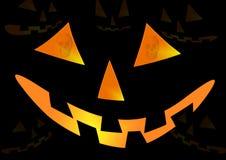 Fronte della zucca di Halloween Fotografia Stock