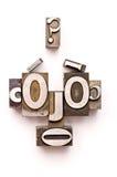 Fronte dello scritto tipografico Fotografia Stock