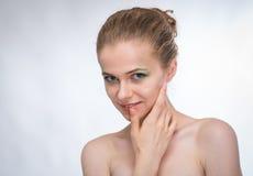 Fronte di bella donna Immagine Stock