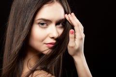 Fronte di bellezza di bella donna Fotografia Stock Libera da Diritti