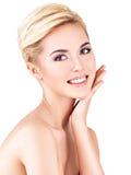 Fronte di bellezza di giovane bella donna Fotografia Stock