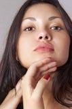 Fronte di giovane bella donna l Fotografia Stock