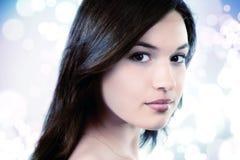 Fronte di giovane donna pura femminile Fotografia Stock Libera da Diritti