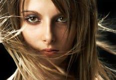Fronte di giovane ragazza di bellezza Immagini Stock