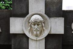 Fronte di Jesus Christ sul monumento fotografie stock libere da diritti