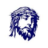 Fronte di Lord Jesus Christ illustrazione di stock