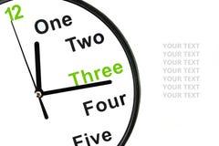 Fronte di orologio analogico su fondo bianco Fotografia Stock Libera da Diritti