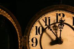 Fronte di orologio antico Fotografia Stock