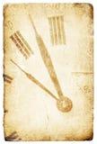 Fronte di orologio antico della casella. Immagini Stock