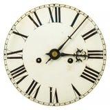 Fronte di orologio d'annata con i numeri romani Fotografia Stock