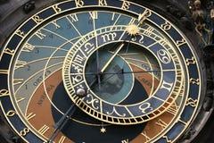 Fronte di orologio di Praga Immagini Stock