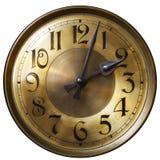 Fronte di orologio di prima generazione isolato dell'annata Immagini Stock