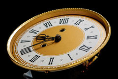 Fronte di orologio freddo Fotografia Stock Libera da Diritti