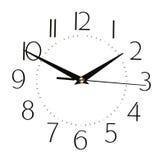 Fronte di orologio isolato su fondo bianco - cronometri il concetto Fotografia Stock Libera da Diritti