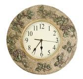 Fronte di orologio isolato su fondo bianco - cronometri il concetto Fotografia Stock