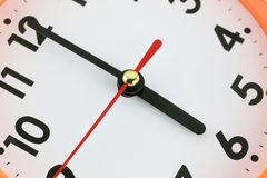 Fronte di orologio nel concetto di tempo Fotografie Stock Libere da Diritti