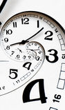 Fronte di orologio torto generato Digitahi. Immagini Stock