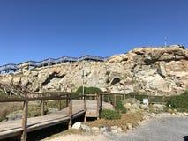 Fronte di pietra con le rocce fotografia stock