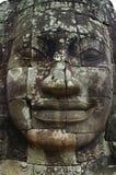Fronte di pietra del tempio di Bayon, Siemreap, Cambogia fotografie stock libere da diritti