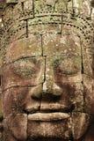 Fronte di pietra, il tempio di Bayon, Angkor Wat, Cambogia fotografia stock
