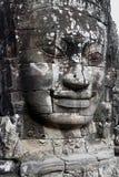 Fronte di pietra in tempio di Bayon, Angkor Wat Fotografie Stock