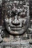 Fronte di pietra in tempio di Bayon, Angkor Wat Fotografia Stock Libera da Diritti
