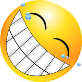 Fronte di smiley del Emoticon Immagini Stock Libere da Diritti