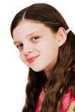 Fronte di smiley di una ragazza Fotografia Stock