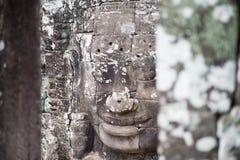 Fronte di sorriso a Angkor Thom, Siem Reap, Cambogia Fotografia Stock