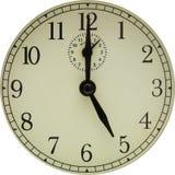 Fronte di un orologio antiquato fotografia stock libera da diritti