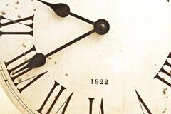 Fronte di vecchio orologio Fotografia Stock Libera da Diritti