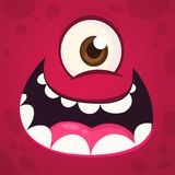 Fronte divertente dell'occhio del mostro uno Illustrazione di vettore Mostro del fumetto di Halloween fotografia stock libera da diritti