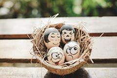 Fronte divertente dell'uovo fotografia stock