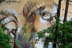 Fronte due dei graffiti delle ragazze Fotografia Stock Libera da Diritti