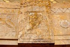 Fronte e sollievo del marmo di Fasces immagine stock