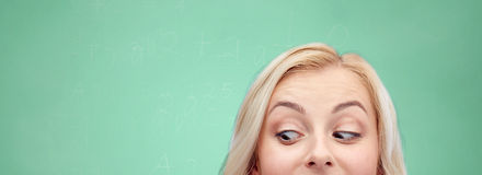 Fronte felice dell'adolescente o della giovane donna Immagine Stock
