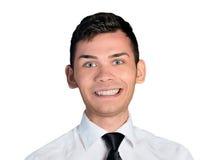 Fronte felice dell'uomo di affari Fotografia Stock