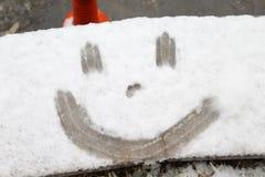 Fronte felice della neve fotografie stock libere da diritti